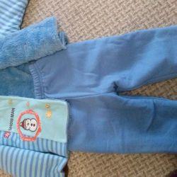 Μπουφάν και παντελόνια 6-9 μήνες Νέα