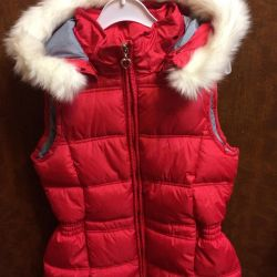 Warm vest for the girl
