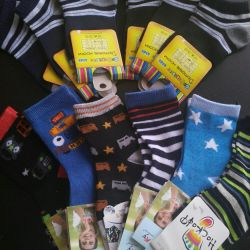 New socks for a boy for 3-4 years