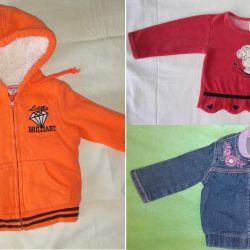 Jacket, jeans. jacket girl, r.65-80cm, 3-12m, OTL