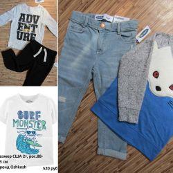 Άντρας 2-4 ετών παντελόνι πουκάμισων πουκάμισων Oshkosh