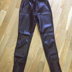 Leather leggings dress by Anna Ryaposova