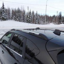 Roof rails on a car