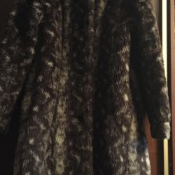 Faux fur coat with lining