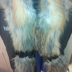 Fur vest from a natural fox