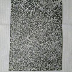 Рисунок. Графика. Гелевая ручка. Формат А3