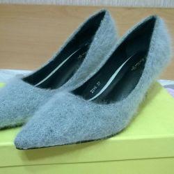 Ayakkabı yeni süper moda kürk