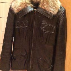 Bayan deri kışın ceket
