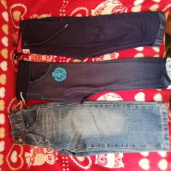 Pantaloni cu mânecă lungă pe băiatul 92, dimensiunea 98