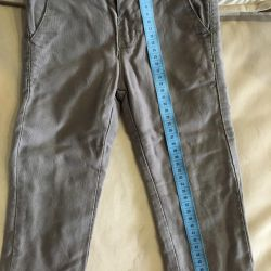 Cotton-lined pants for a boy