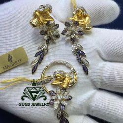 Luxury Magerit set of gold with diamonds