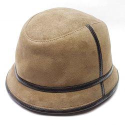 Pălărie Panama blană bărbătească iarnă (tutun)