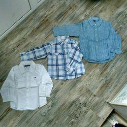 Рубашки пакетом на 1,5-3 года