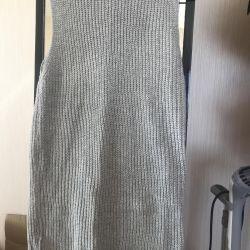 Πλεκτό γκρίζο φόρεμα νέο