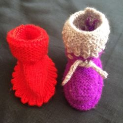 Booties knitted, new