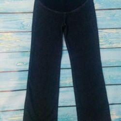 Sıcak hamile kadınlar için kot pantolon (kış)
