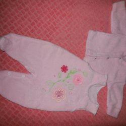 Costum pentru fată nou-născută