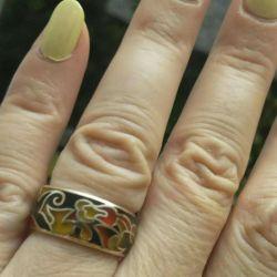 Inel de aur auriu de aur 16,5p