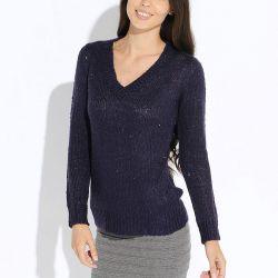 Пуловер Oodji фиолетовый р44-46
