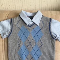 vest with T-shirt