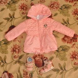 C & A jacket (80) and Flamingo shoes (18 rr.), Used 2 p