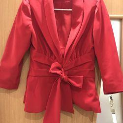 Kırmızı Takım Elbise (Ceket Etek)