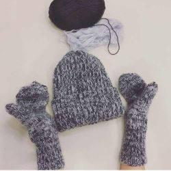Winter hat 54/57 pp and mittens