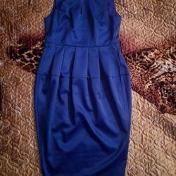 Платье-кокон стильное деловое вечернее