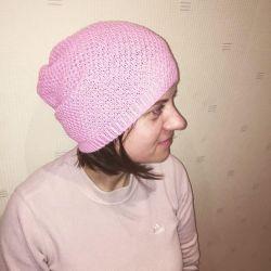 Fishnet sock hat