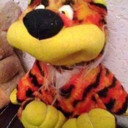 М'яка іграшка - рудий тигр