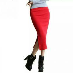 Νέα κόκκινη φούστα μολύβι