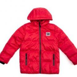 Winter jacket on a boy