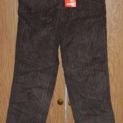 New brown corduroy pants height 170