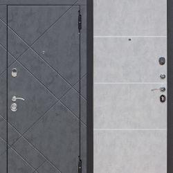 Ușă de intrare 9 cm BRUKLIN Grafit din beton / Beton ne