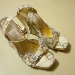 New sandals natural 37 size