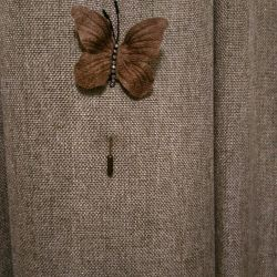 Brooch made of genuine leather