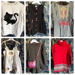 Rochie, pulover etc. pentru fete 3-4 de la