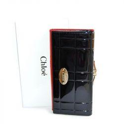 Portofel pentru femei CHLOE negru și roșu nou