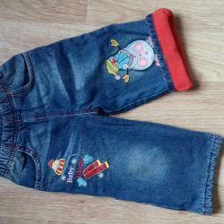 Jeans on fleece