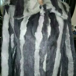 Mink coat new + mitts