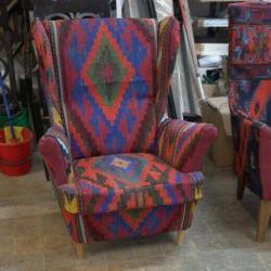 Кресло в восточном стиле! Восточный ковер килим!