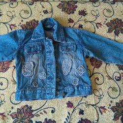 Джинсовый пиджачок,р-р98