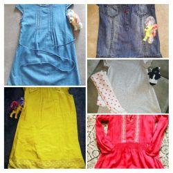Dresses in the kindergarten for a girl 104-116