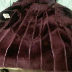 Sheepskin παλτό φυσικό 42-46 ζεστό άριστη κατάσταση