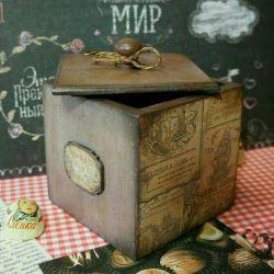 Короб чай кухня декупаж подарки  москва