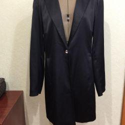 Extra Long Satin Jacket