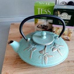 Cast iron teapot, new! 750 ml