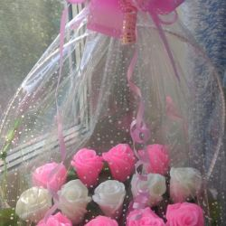 Basket of roses from soap