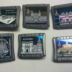 Olympic badges. 6 pieces