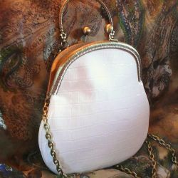 Bag leather white author's